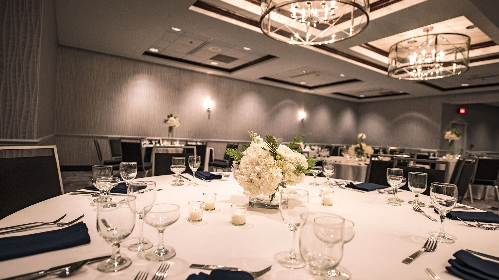 Sheraton Madison Hotel - Ballroom Wedding Set Up
